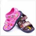 Мальчики Сандалии Лета малышей Детская обувь новорожденных девочек Мягкое дно не скользит