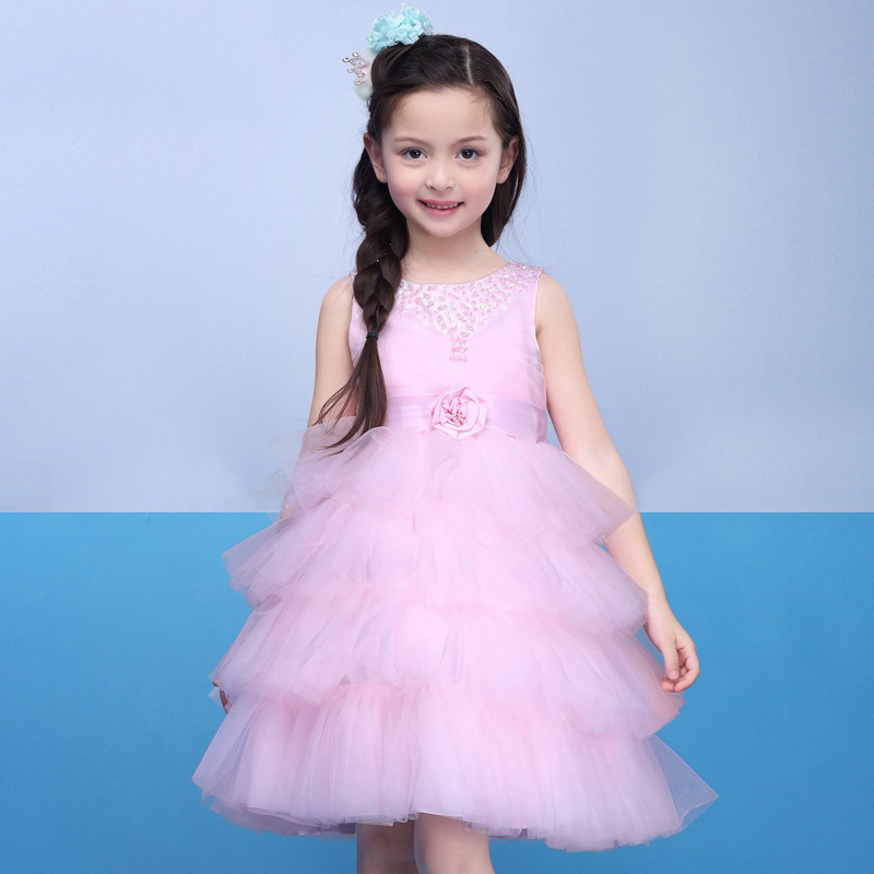 Latest Flower Girl Dresses with Flower Princess Communion Party Pageant Dress for Wedding Little Girls Kids/Child Birthday Dress