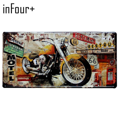 Автобус мотоцикл автомобиль металлический номерной знак винтажный домашний декор жестяная вывеска Бар Паб декоративный металлический знак для гаража металлическая живопись табличка - Цвет: MPA2052