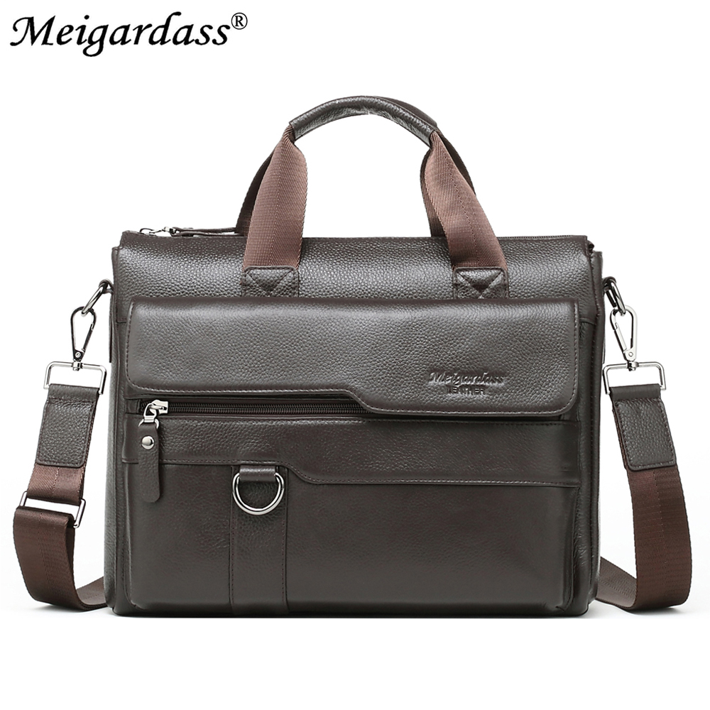 MEIGARDASS Men's Bags Genuine Leather Briefcase 13