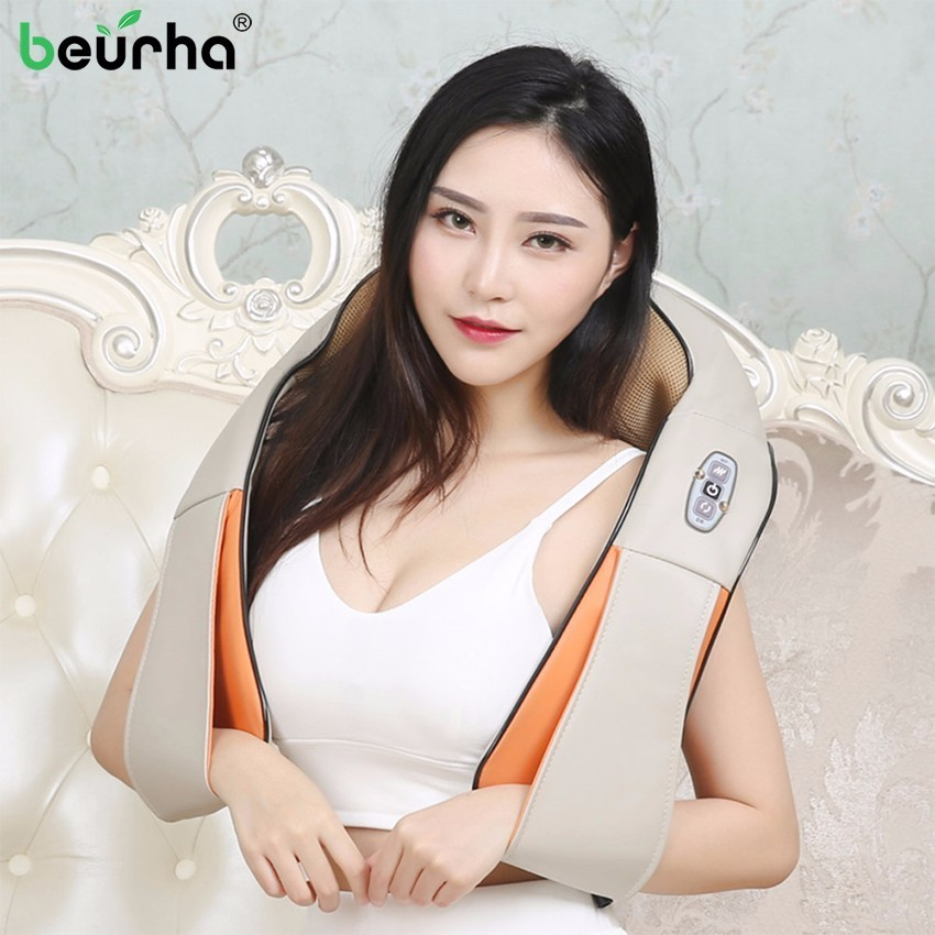 Beurha 1 Set Multifunction Infrared Body Health Care Equipment Car Home Acupuncture Kneading Neck Shoulder Cellulite Massager multifunction health care car home pillow massager acupuncture kneading neck shoulder massager darsonval anti cellulite