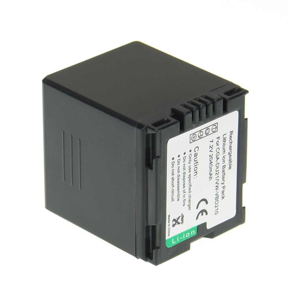 Hot Sale 1pcs CGA-DU21 CGADU21 CGA DU21 7.4V 2040mah Li-ion Camera Battery For Panasonic PANASONIC CGR-DU06 CGA-DU06 1pcs cga s006e cgrs006a cgr s006e cgr s006a 1b bp dc5u rechargeable camera li ion battery for panasonic bp dc5 e