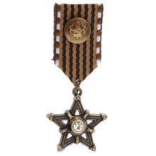 Retro Mens Navy Style Uniform Punk Crystal Star Medal Brooches Badge Brooch broche enamel pin brooches for women hijab pins