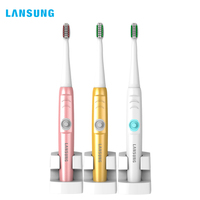 LANSUNG Wireless Charge Ultrasonic Sonic Electric Presented Toothbrush Heads BrushSets Whitening Teeth Brush Electric Toothbrush