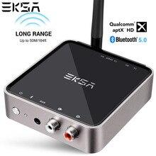 EKSA 2 в 1 Bluetooth 5,0 приемник передатчик 164ft Long Range беспроводной 3,5 мм аудио адаптер для наушники для телевизора aptX низкой задержкой