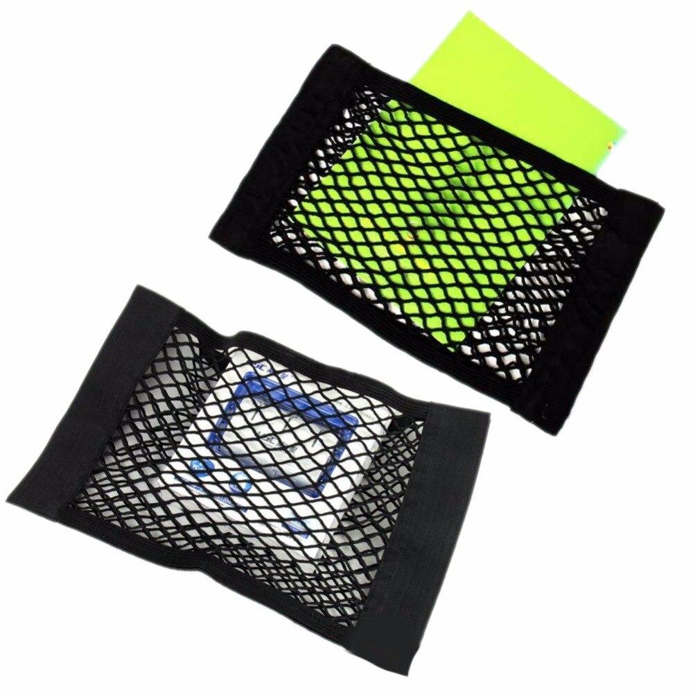 High Quality Car Rear Trunk Seat Elastic String Storage Mesh Net Bag Luggage Holder Pocket Sticker