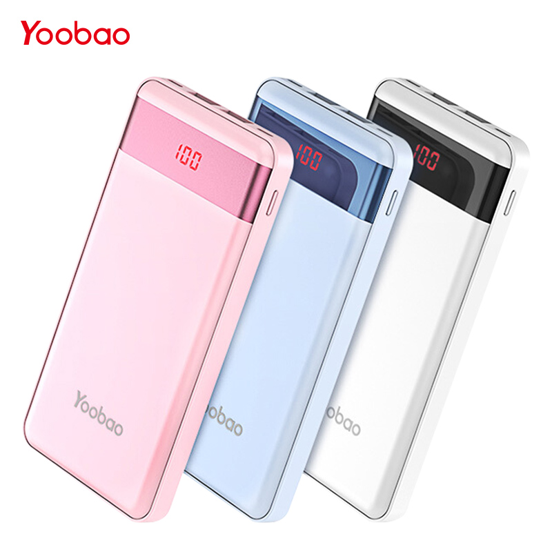 yoobao small power bank for xiaomi mi 10000 mah led pover. Black Bedroom Furniture Sets. Home Design Ideas