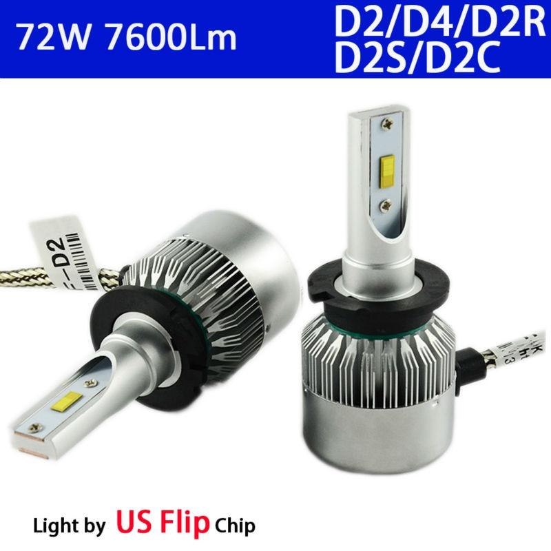 все цены на  2x D2 D4 S/R Led Headlight Conversion Kit 6000K 36w 3800Lm to Replace Original D2S D2C D2R D4S Xenon Hid Bulb Head Light 12V 24V  онлайн