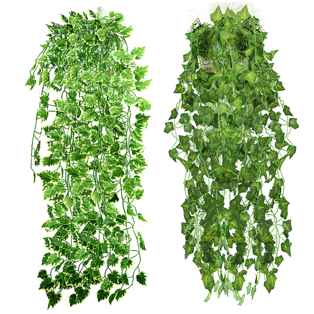 90cm home garden decor artificial ivy leaves wedding wall decoration hanging fake plants green plant ivy