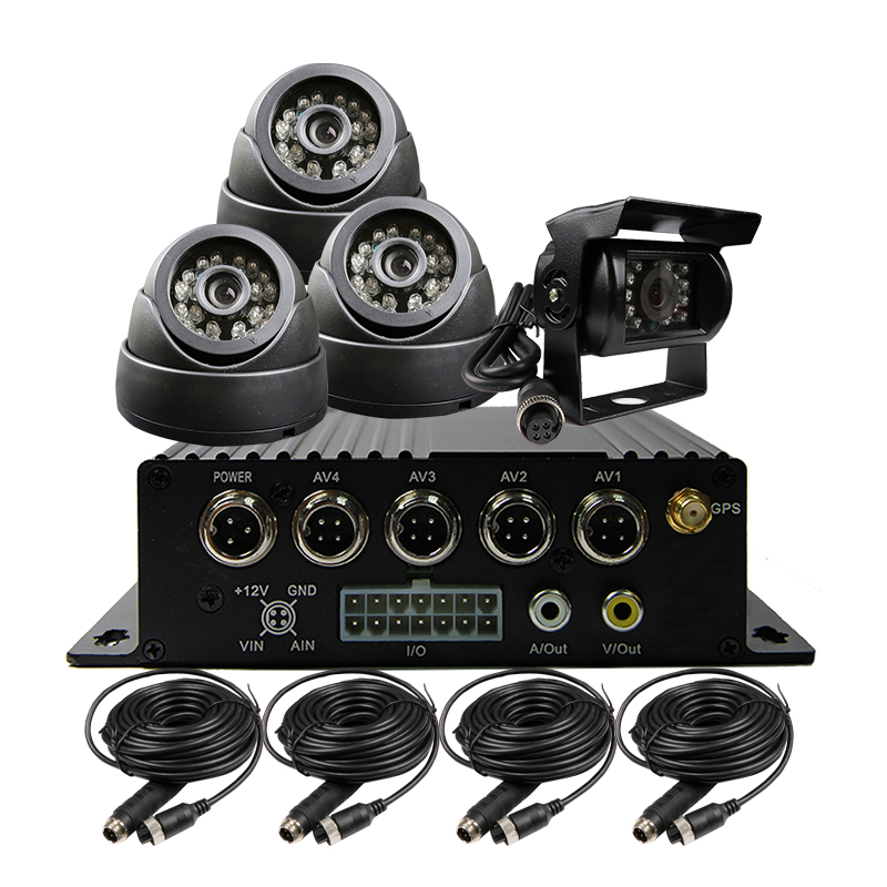 4CH SD 256G H.264 I/O GPS Track Car Vehicle DVR MDVR Video Recorder Kit IR CCTV 600TVL Camera For Truck Van Bus Free Shipping free shipping 4ch gps 3g track h 264 i o 256gb sd car mobile dvr recorder mdvr realtime monitor for phone pc for truck van