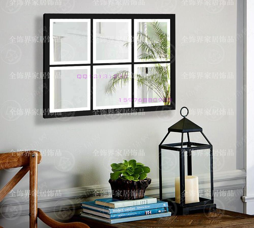 Metal wall mirrored art square wall decor mirror panel for Art mirrors for walls