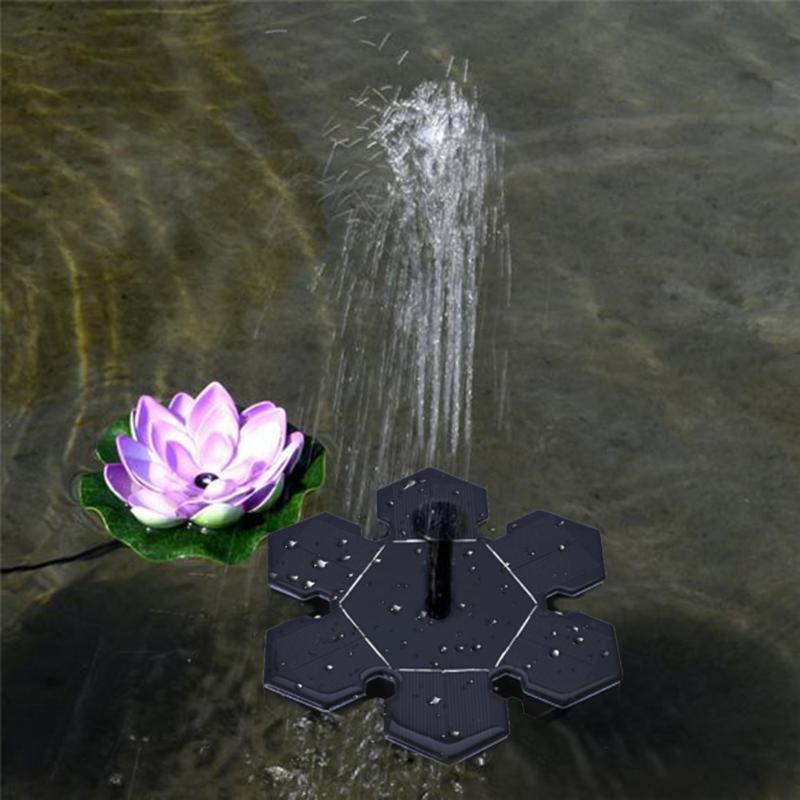 Solar Water Pump Power Panel Kit Fountain Pool Garden Pond Submersible Watering Display Garden Submersible Watering Display