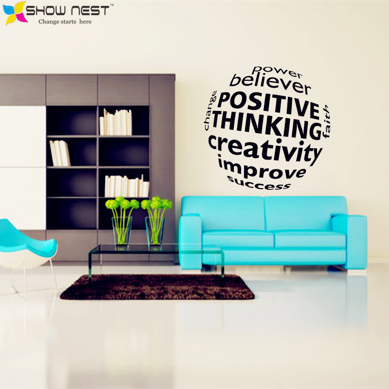 Business Motivation Quotes 3D Visual Effect Wall Decal Mural Office Sticker Wall  Decor Office Scene Wallpaper Design In Wall Stickers From Home U0026 Garden On  ...