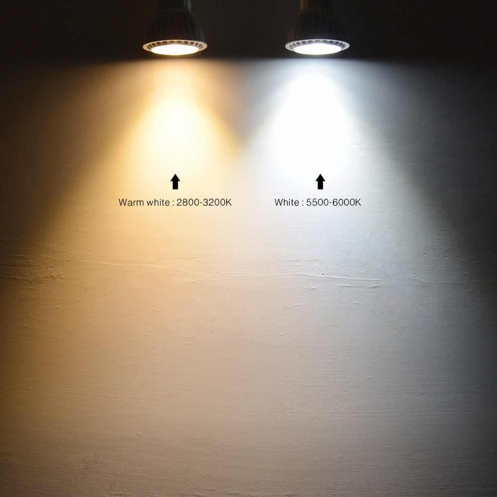 10Pcs LED Spotlight MR16 LED 12V GU5.3 GU10 LED Bulb Dimmable 220V 110V MR16 GU 10 LED lamp COB Spot light 3W 5W 7W AC 85V-265V