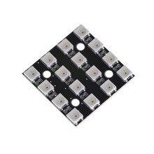 Nouveau 1 x LED RGB 4x4 16 bits WS2812 5050 RGB LED + pilotes intégrés pour arduino