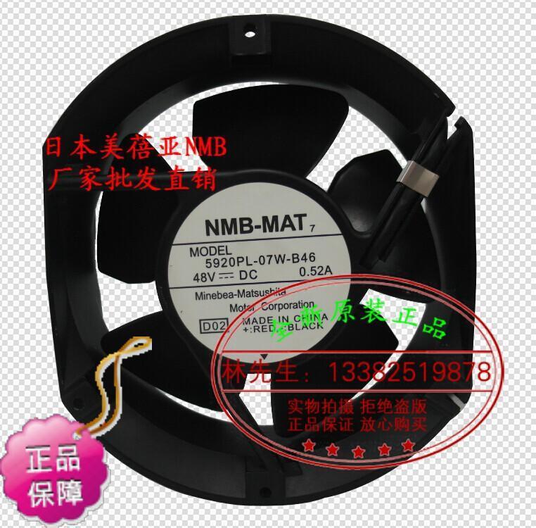 ФОТО New Original NMB 5920PL-07W-B46 172*51MM DC48V 0.52A inverter axial cooling fan