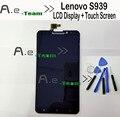 Para lenovo s939 tela lcd 100% novo display lcd + touch screen substituição assembleia para lenovo s939 smartphone