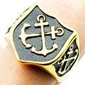 Charme ouro duplo padrão âncora para homens mulheres aço inoxidável 316L Punk jóias de alta qualidade presentes LR421