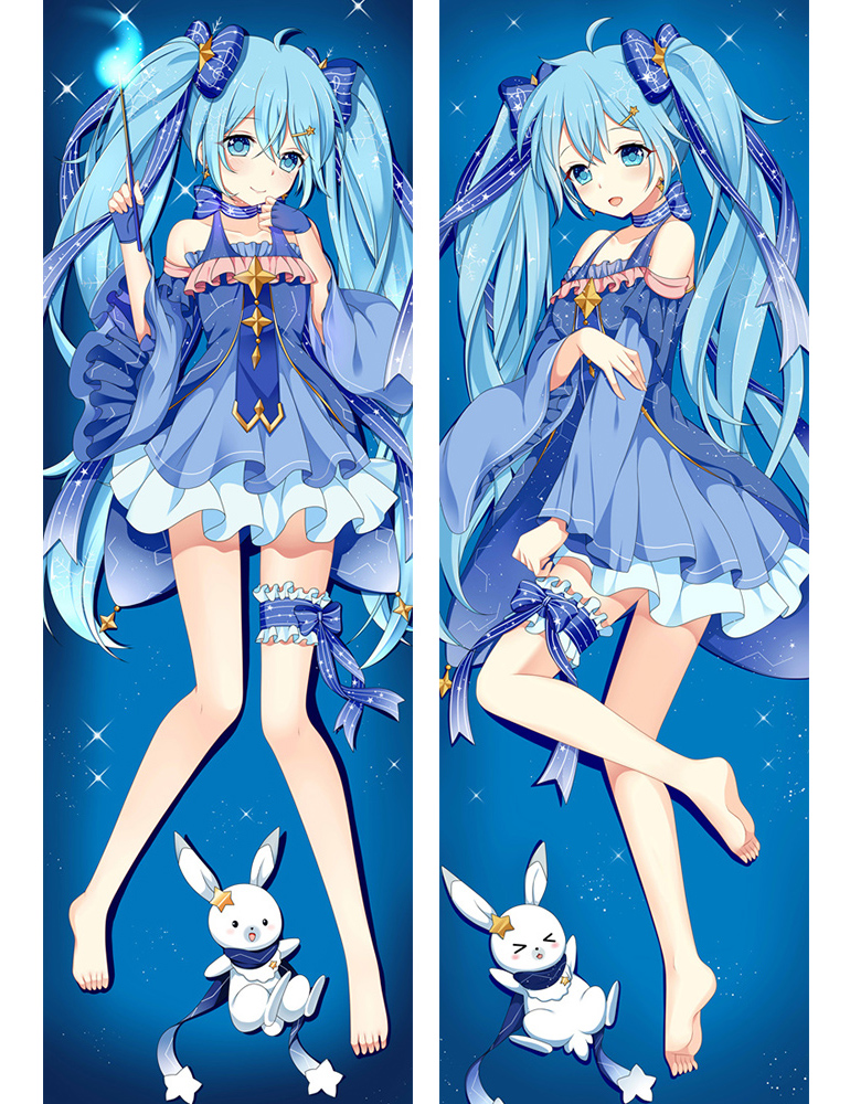 1 Japan Anime Hatsune Miku Snow Miku BL Hugging Body Pillow Cover Case 71040  (2)