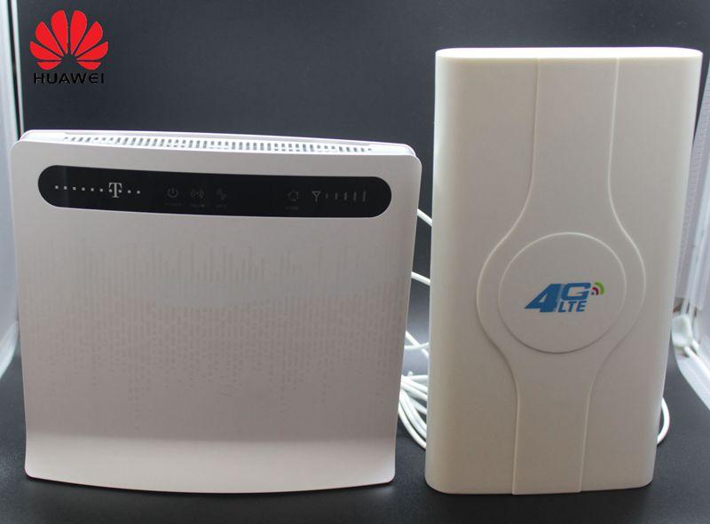 Débloqué Huawei B593 B593s-12 Plus Antenne 4G LTE 150 Mbps CPE Routeur avec Sim CardSlot 4G LTE WiFi Routeur avec 4 Lan Port PKB310