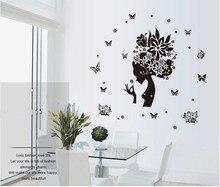 Феи Бабочка Цветок Бабочка Стиль Живописи Обои Творческий стикер Моды Стены спальни Плаката Красивый Дом ДЕКАБРЯ