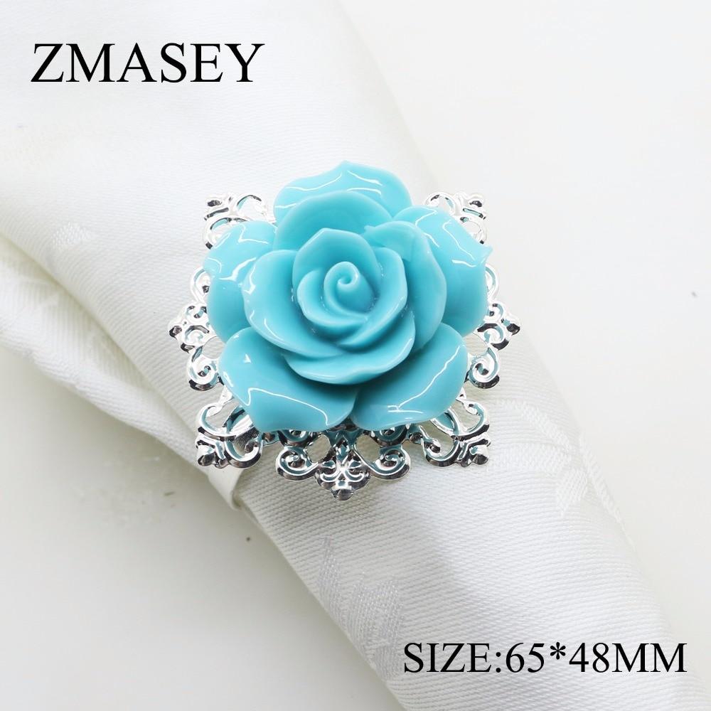 4/6Pcs, Napkin Ring, Buckle, Wedding Reception, Birthday Party, Rose, Handmade Silver Ring Decoration Crafts Napkin Rings  - AliExpress