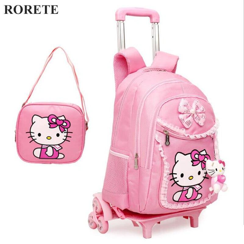 Рюкзак на колесах со съемным рюкзак на колесиках почтой