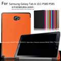 Slim Magnetic Folding Flip PU Case Cover For Samsung GALAXY Tab A A6 S pen P580 P585 P580N 10.1 inch Tablet Skin Case + Film+Pen