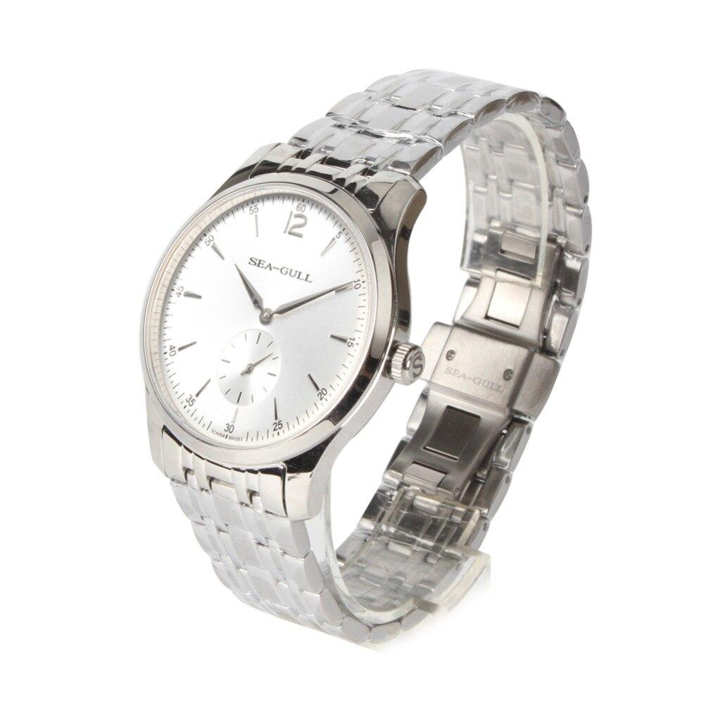 超薄型 9 ミリメートルカモメ PVD ステンレススチール展示バック機械式メンズビジネス腕時計 D816.448  グループ上の 腕時計 からの 機械式時計 の中 3