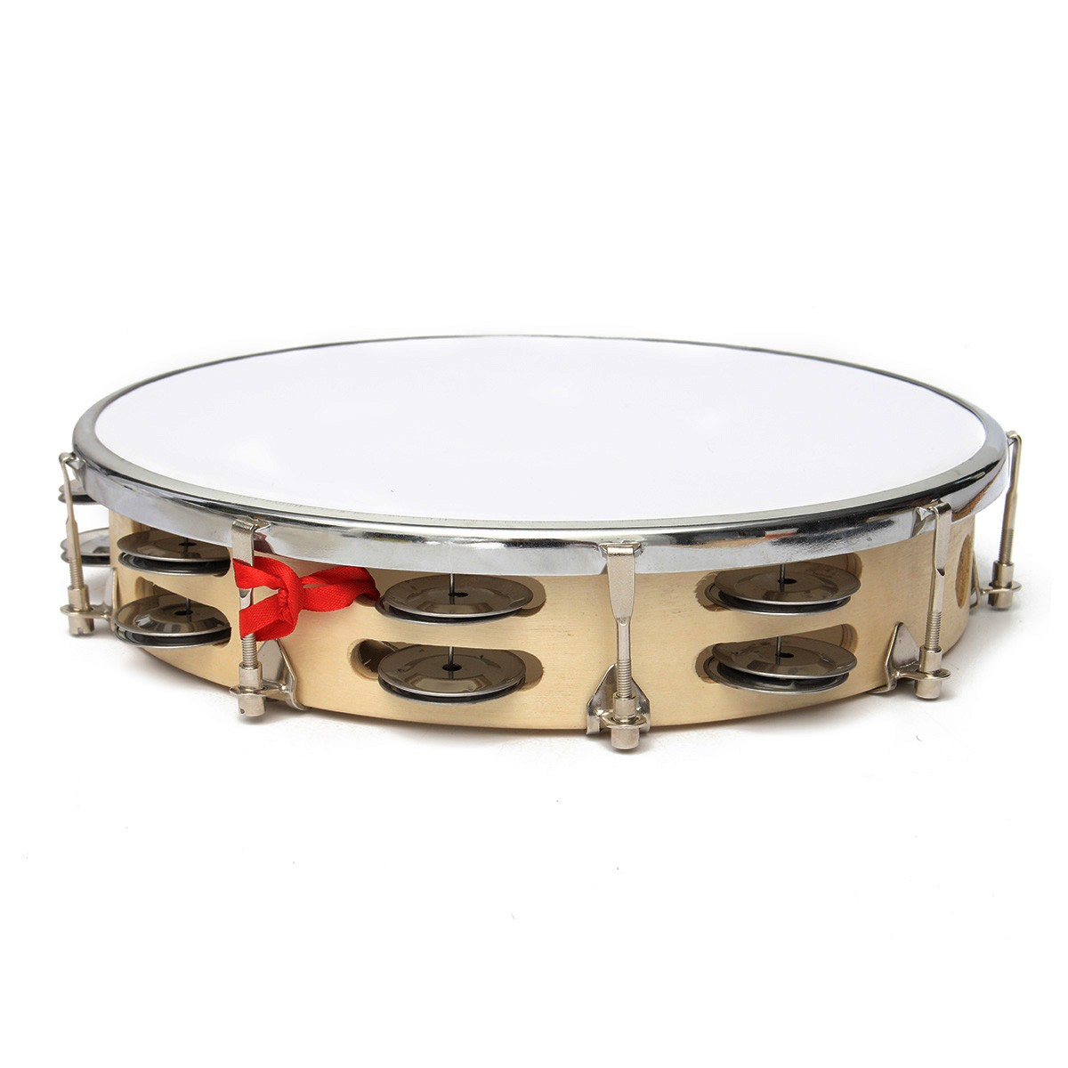 """New Arrival 8""""/10"""" Capoeira Leather Pandeiro Drum Music Instruments Tambourine Percussion Membranophone Gifts for Music Lovers-in Tambourine from Sports ..."""