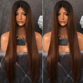Peruvian Virgin Hair Colored Full Lace Wig #1B/4 Ombre Lace Front Human Hair Wigs Long Straight U Part Wigs For Black Women