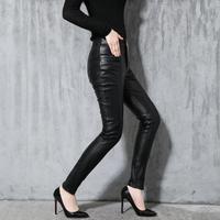 Осенне зимняя обувь новая натуральная кожа Штаны женские тонкие брюки из овечьей кожи повседневные штаны женский тонкий корейские узкие бр