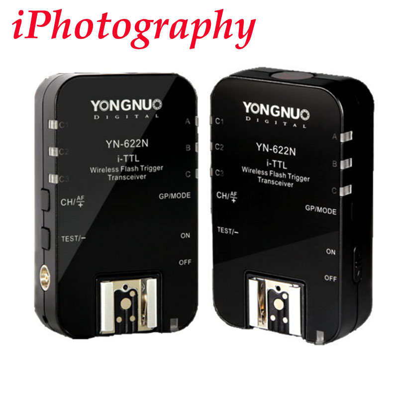 Yongnuo YN-622N YN 622 Wireless I TTL ITTL HSS 1/8000S Flash Trigger 2 Transceivers for Nikon DSLR купить