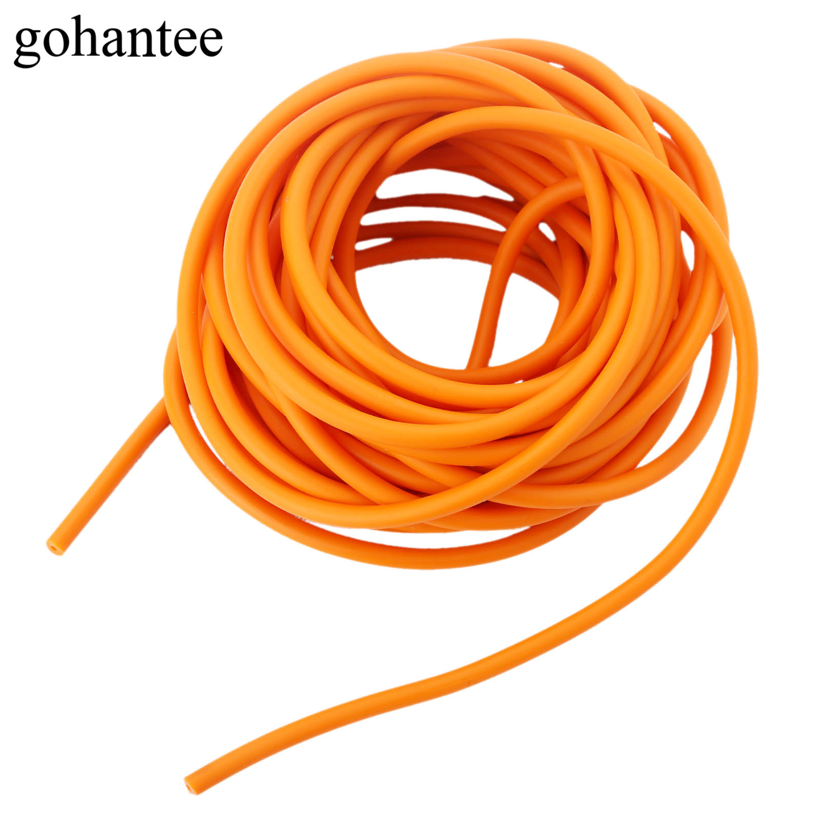 gohantee Orange 10M Natural Latex Rubber Tube Elastica Bungee for Hunting Slingshot Catapult 2mmX5.5mm 2055 Rubber Bands Tubes 5x10mm 10meter natural latex slingshots rubber tube tubing elastic surgical
