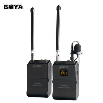 BOYA BY-WFM12  Wireless VHF Microphone System for DSLR Camera iPhone  Camcorder Audio Recorder Tablet Dual Jacke for Transmitter
