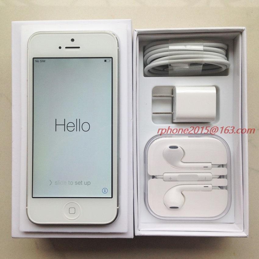 """Desbloqueado original apple iphone 5 gsm 3g telefone móvel 16 gb 32 gb 64 gb rom wifi 8mp 4.0 """"ios 8.0 usados celulares 5"""