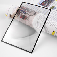 180x120mm hot selling Convinient A5 Flat PVC Magnifier Sheet X3 Book Page Magnification Magnifying Reading Glass Lens Measuring Tools