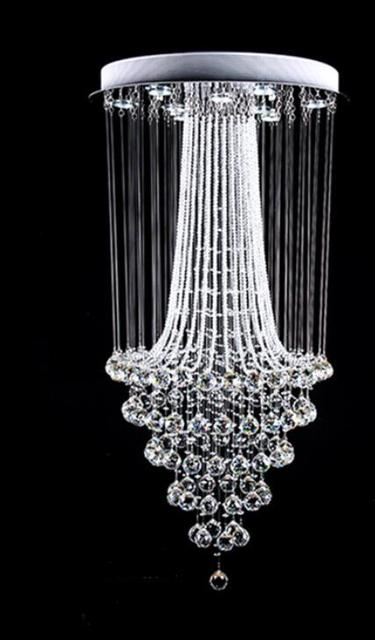 Simple modern chandelier double staircase long villa staircase simple modern chandelier double staircase long villa staircase living room restaurant crystal chandelier hall lamp sj14 aloadofball Image collections