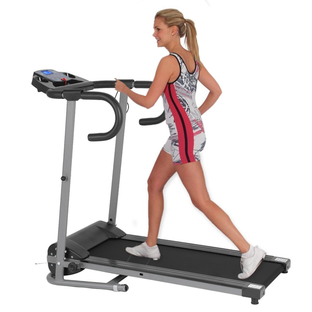 Motorized Treadmill With LCD Display Electrical Fitness Machine Running Exercise Machine Home Trainer Fitness Equipment cycling trainer home training indoor exercise 26 28 magnetic resistances bike trainer fitness station bicycle trainer rollers
