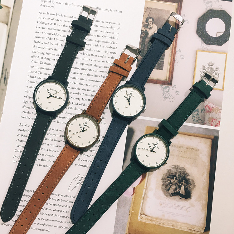 2018 Brand New DOUKOU Brand Casual Fashion Leather Watch Quartz Watch