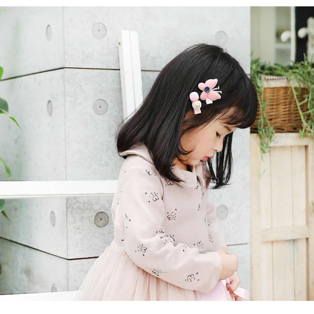 24 шт./компл. милые девушки аксессуары для волос принцессы Мультяшные заколки дети лук заколки для волос канатная Резиновая лента