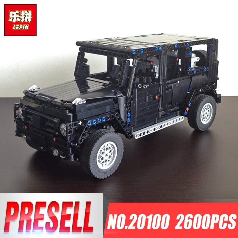Lepin Technic 20100 MOC-2425 G500 AWD Wagon RC hors route véhicules moteurs camions modèles blocs de construction briques SUV jouets enfants cadeaux