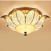 European luxury atmosphere LED crystal living room bedroom ceiling lamp circular corridor creative personality Chandelier