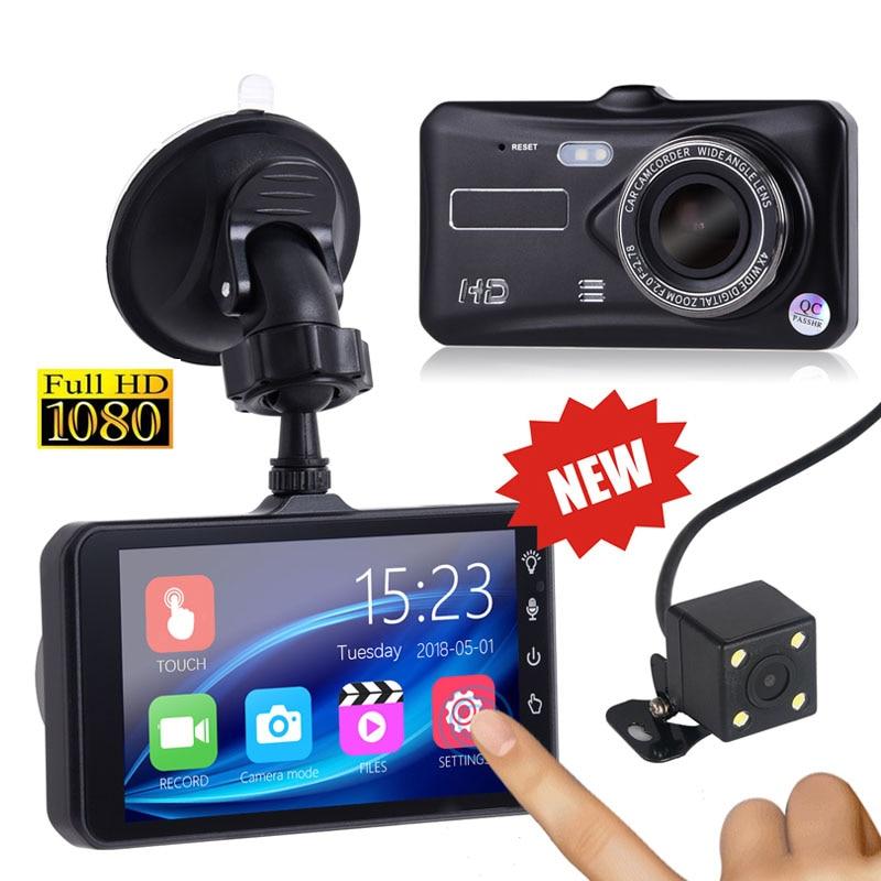 "4"" IPS Dual Lens 1080P FHD Night Vision G-sensor Registrator cyclic recording Digital Video Recorder Dash Cam Car DVR Camera I"