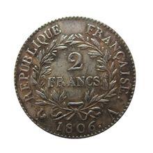 Дата Франция Наполеон 1 1806-A 1806-D 1806-K 1807-B 1807-K 2 Франк копия монет