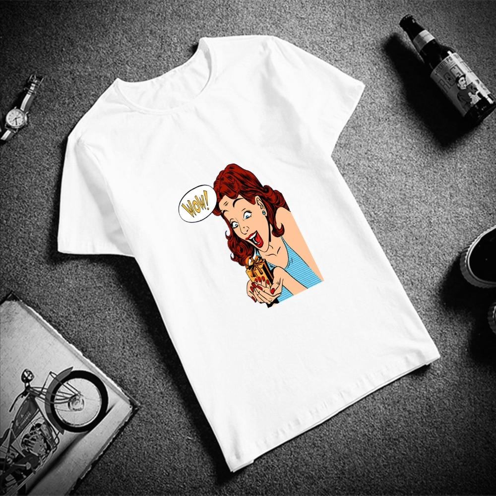 New 100% Cotton Women Tshirt Ladies Pop Art Print Short Sleeve Top & Tee Fashion Casual T Shirt Unisex Brand Clothing