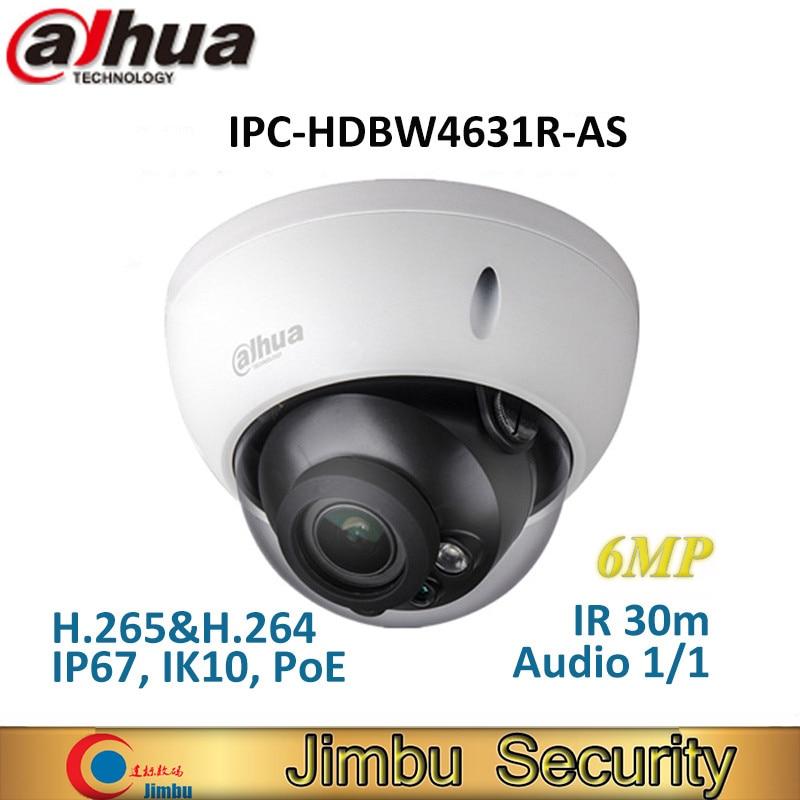 Dahua 6MP IP Camera IK10 IP67 IR30M built-in SD card Audio IPC-HDBW4631R-AS