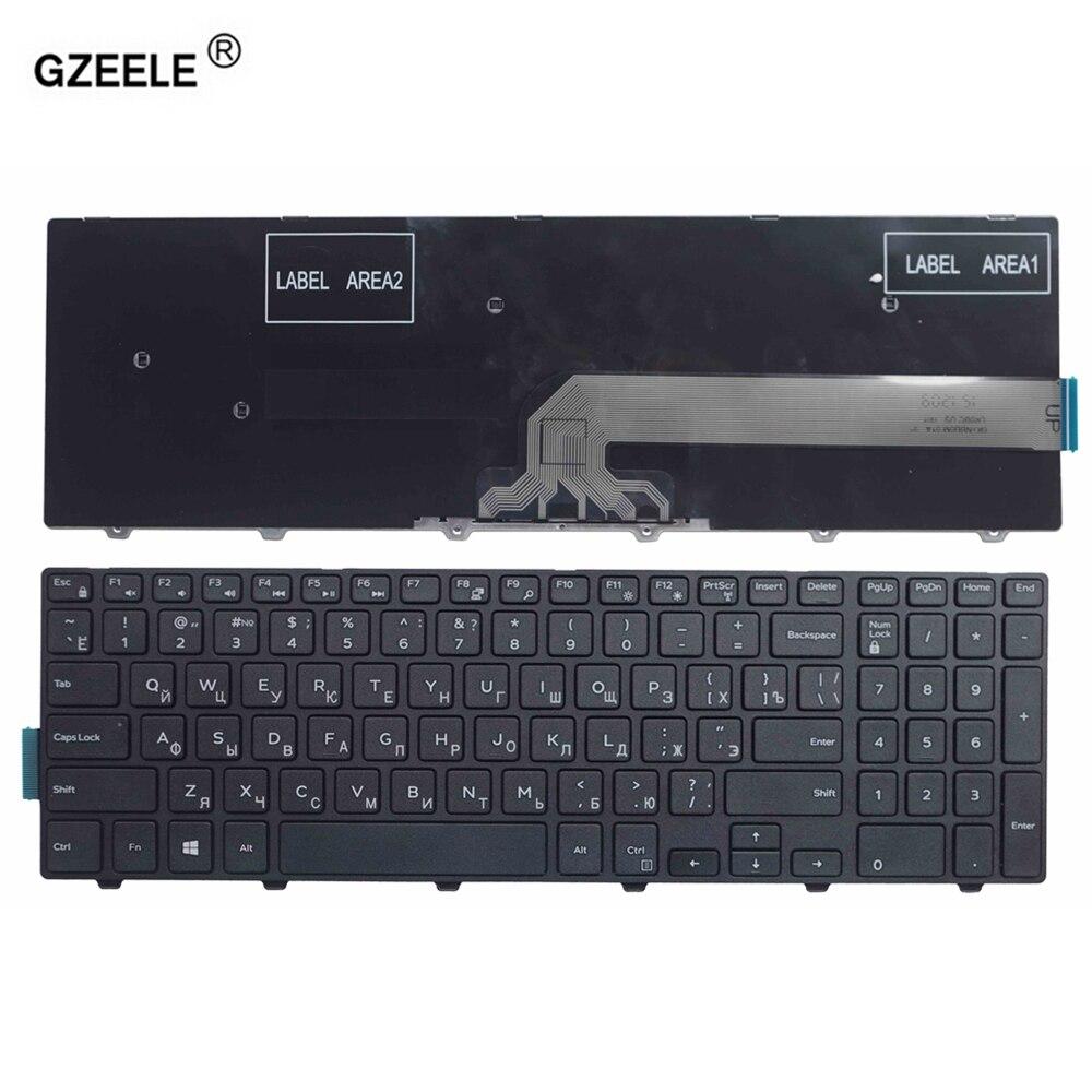 GZEELE russian laptop Keyboard for DELL Inspiron 15 3000 5000 3541 3542 3543 5542 5545 5547 15-5547 15-5000 15-5545 17-5000 RU