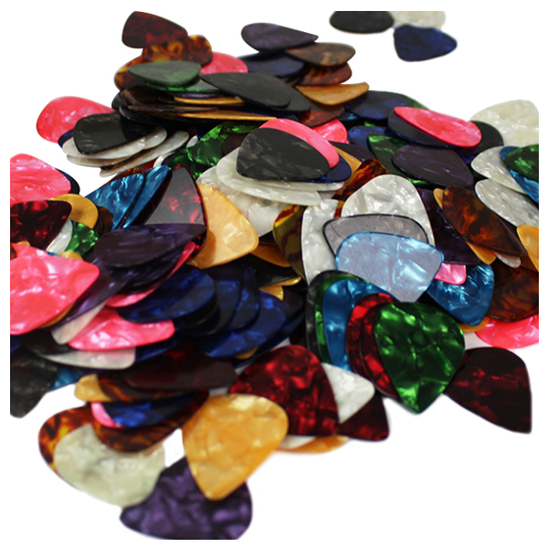 plastic Guitar Picks Plectrum 0.46 mm, 0.71 mm, 0.96 mm and 1.2 mm, 20 Pack
