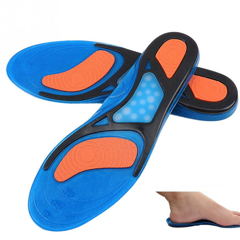 2018 1Pair Unisex Elastic Soft Non-Slip Shock-absorbing Silicone Insoles Basketball Sports Shoes Pad Blue Color #1016 2018 1pair unisex elastic soft non slip shock absorbing silicone insoles basketball sports shoes pad blue color 1016